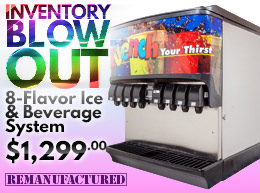 Inventory Blow Out! 8-Flavor Ice & Beverage System - $1,299