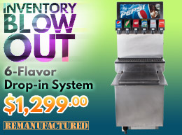 6-Flavor Drop-In Soda Fountain System Inventory Blow Out - $1,299 - di00601