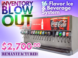 16-Flavor Ice and Beverage Soda Fountain System Inventory Blow Out - $2,700.00 - ibd00216B