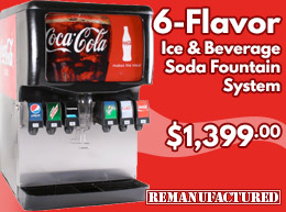 6-Flavor Ice and Beverage Soda Fountain System - $1,399.00 - ibd00212
