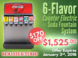 6-Flavor Counter Electric Soda Fountain System - $1,525.00 - ce00606