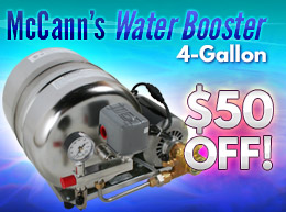 McCann's 4-Gallon Water Booster - $50 OFF! - 7267B