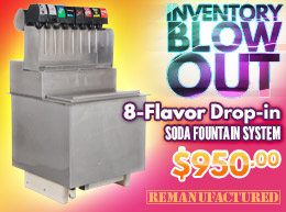 INVENTORY BLOW OUT! 8-Flavor Drop-in Soda Fountain System - $950.00 - di00308