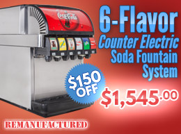 6-Flavor Counter Electric Soda Fountain System - $1,545.00 - ce00606