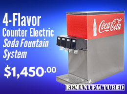 4-Flavor Counter Electric Soda Fountain System - $1,450.00 - ce00113