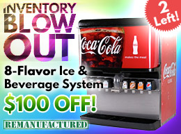 8-Flavor Ice and Beverage Soda Fountain System - $100 OFF - $1,670 - 2 Left! - ibd00122A