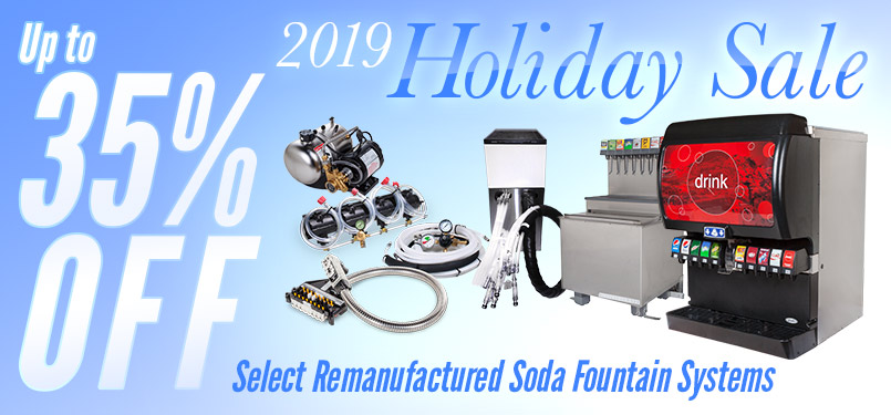 Holiday Sale - Up to 35% OFF Select Remanufactured Soda Fountain Systems