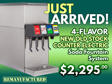 Just Arrived! 4-Flavor New Old Stock Counter Electric Soda Fountain System - ce00113C