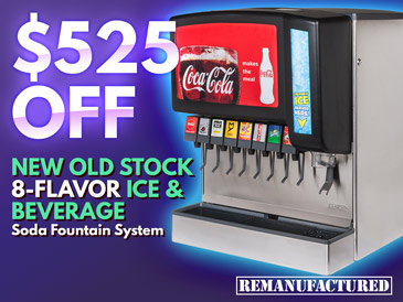$525 OFF New Old Stock 8-Flavor Ice & Beverage Soda Fountain System - ibd00133