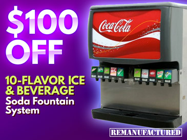 10-Flavor Ice and Beverage Soda Fountain System - $100 OFF - ibd00106