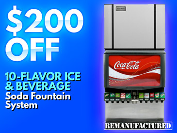 10-Flavor Ice and Beverage Soda Fountain System - $200 OFF - ibd00106B