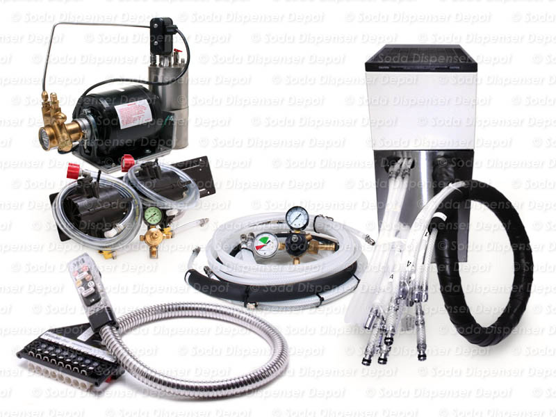 2-Flavor Soda Gun System with NEW Remote Cooler
