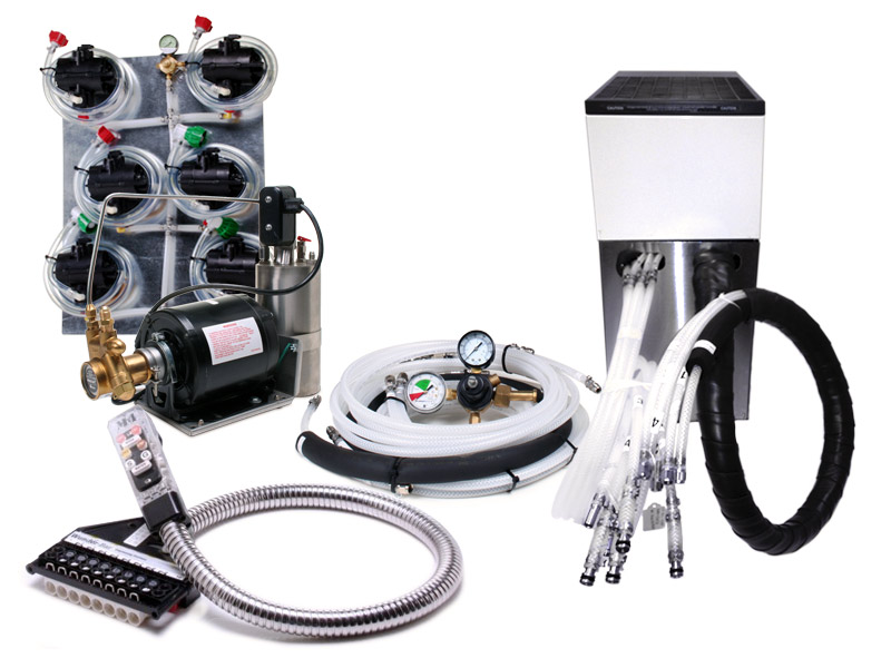 6-Flavor Soda Gun System with NEW Remote Cooler