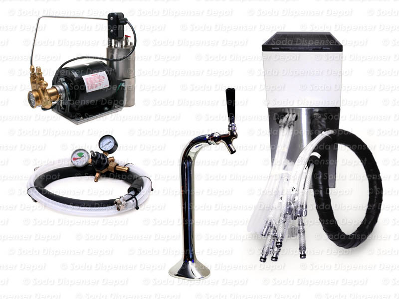 Complete Seltzer Draft Arm (Snake) System w/ Remote