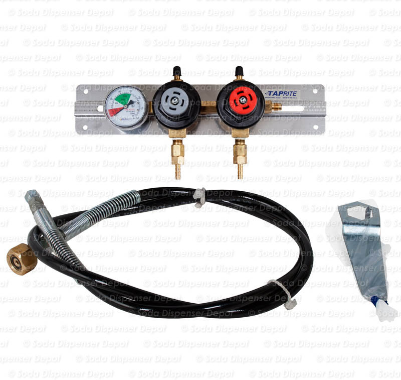Triple Gauge CO2 Regulator with High Pressure Flex Hose