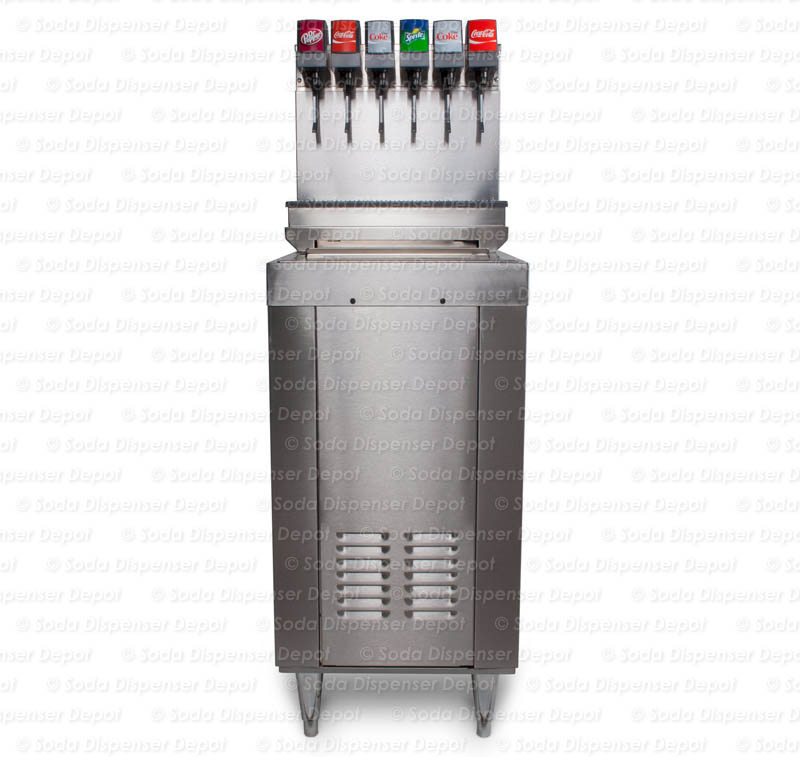 6-Flavor Drop-In Soda Fountain System with Cabinet