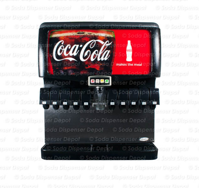 10-Flavor Ice & Beverage Soda Fountain System w/ 4 Flavor Shots