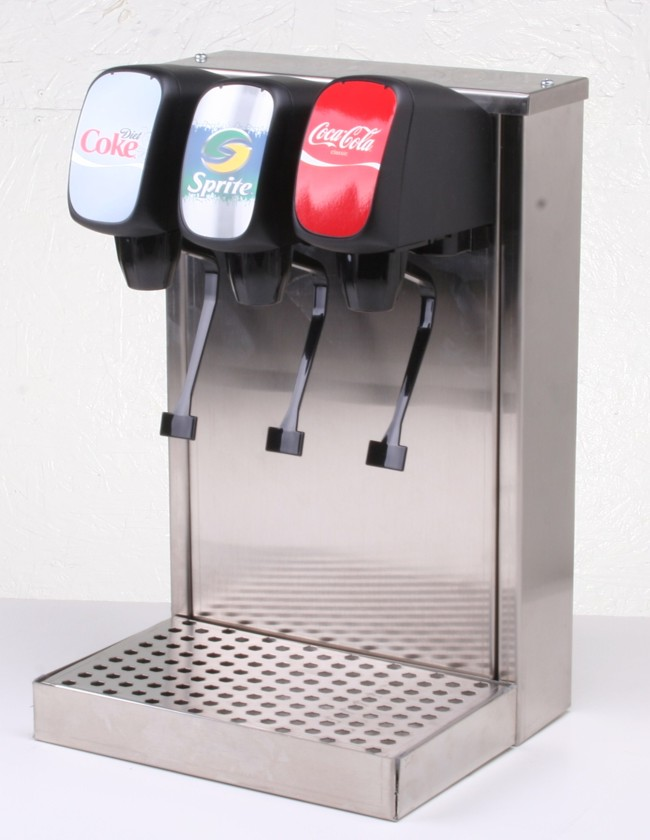 3-Flavor Tower Remote Soda Fountain System