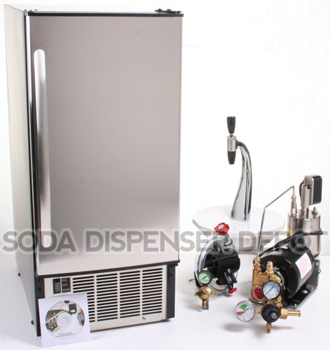 1-Flavor Draft Arm Soda Fountain System With Under Counter Ice Maker