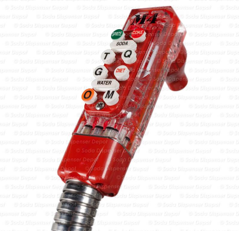 10-Button Wunder-Bar Soda Gun - Red